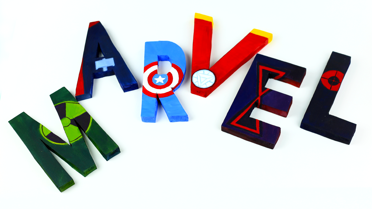Bedroom Decor Letters diy avengers room decor - 3d letters